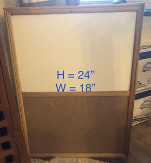 Hanging Wall Whiteboard and Corkboard for Sale in Webster Groves, MO