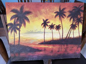 Palm tree pic canvas for Sale in Port St. Lucie, FL