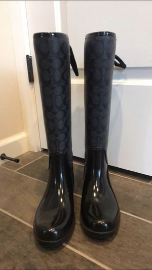 Coach Rain Boots Size 7 for Sale in Kissimmee, FL