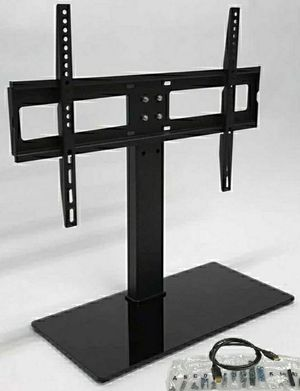 New in box Universal fits 30 to 60 inch tv television stand replacement 120 lbs capacity dresser table tv stand tv mount includes hardware and screws for Sale in Whittier, CA