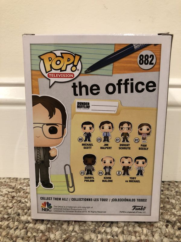 Funko Pop Vinyl - Dwight Schrute Bobblehead - NYCC 2019 Fall Convention Exclusive