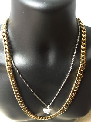 Cyber Monday Sale!! 14KT Gold Filled Cuban Chain and a matching Bracelet. All sizes available!! Best Top Quality!! We do custom work!! for Sale in Detroit, MI
