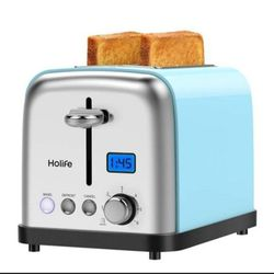 2 Slice, Stainless Steel Toaster Bagel Toaster with Digital Display, 6 Shade Settings, Bagel/Defrost/Cancel/Reheat Function, 1.5 inch Extra Wide Slot for Sale in Arlington,  TX