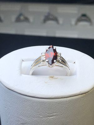 Red stone 925 sterling silver ring size 6 for Sale in Manassas, VA