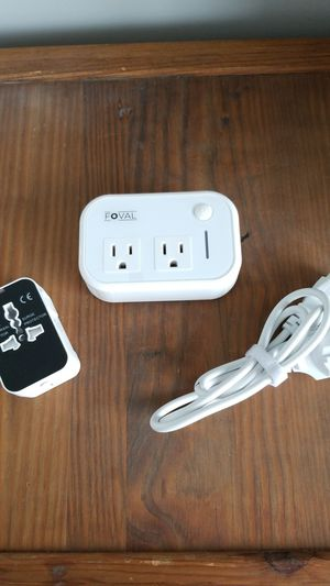 Travel adapter and power converter with universal adapter surge protector for Sale in Algonquin, IL