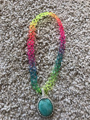 Amazonite rainbow gemstone crystal choker for Sale in Reston, VA