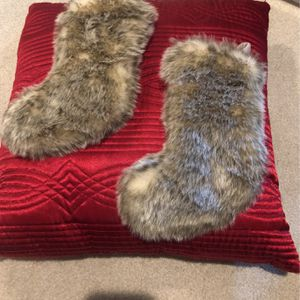 "Two 11"" Fur Stockings for Sale in Smyrna, TN"