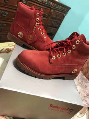Brand New Limited Edition Timberlands RED for Sale in Manassas, VA