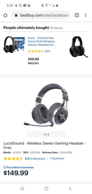 Lucidsound LS31 Gaming Headset for Sale in Chino, CA