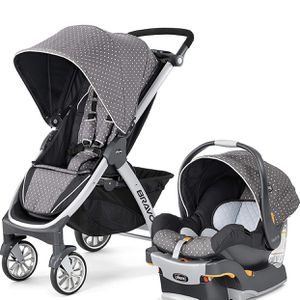 Chicco Bravo Trio Travel System, Lilla (complete set of stroller, car seat and base) for Sale in Las Vegas, NV