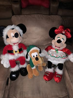 Christmas stuffed animals (Disney) for Sale in Chandler, AZ
