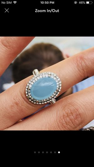 White gold filled moonstone ring women's jewelry accessory for Sale in Silver Spring, MD