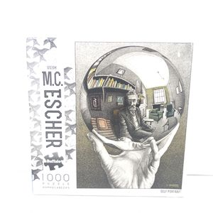 Used Buffalo Games - M.C. Escher - Self Portrait - 1000 Piece Jigsaw Puzzle. for Sale in Milford, CT