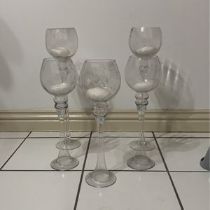 Glass Candle Holders With Candles for Sale in Santa Ana, CA