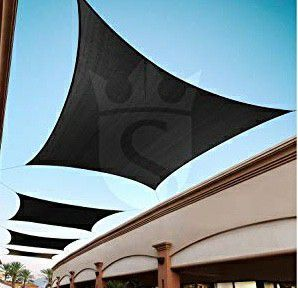 Brand new 18x18 feet huge square sun shade top sail patio pool canopy cover uv protection air circulation for Sale in Whittier, CA