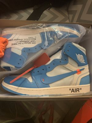 OFF WHITE AIR JORDAN RETRO 1 UNC (Size 10.5) for Sale in Washington, DC
