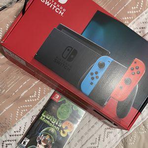 Nintendo Switch W/ Luigi's Mansion & Memory Card for Sale in Hialeah, FL