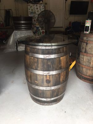 Authentic Refinished Whiskey Barrel Tasting Table for Sale in Forest Hill, MD