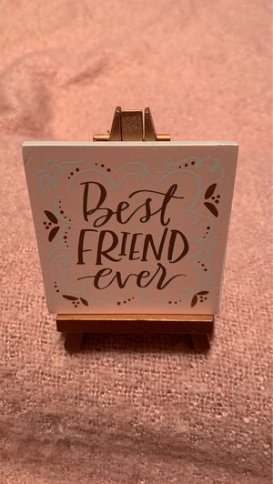 """Little Art Gallery """"Best Friend Ever"""" mini art & easel for Sale in Thornton, CO"""