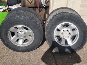 Toyota tacoma 4 rims & tires for Sale in Santa Fe, NM