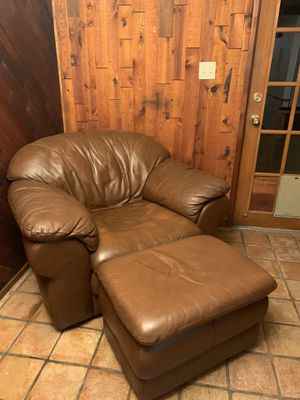 Leather Chair and Ottoman for Sale in Phoenix, AZ