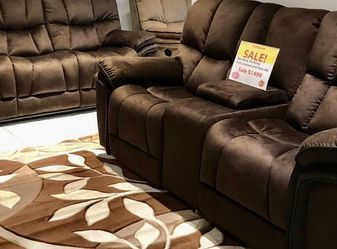 Barcelona Chocolate Reclining Sofa, Loveseat And Chair Set On Sale! No Credit Needed Financing Financing Available for Sale in Lakeland,  FL