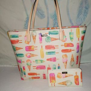 Kate Spade Large Tote And Matching Wallet Set for Sale in Woodbury, NJ