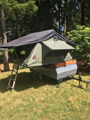 Vintage Apache Eagle Trailer with Tepui Rooftop Tent for Sale in Olympia, WA