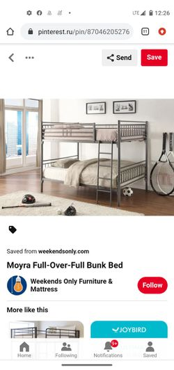 Full size bunk bed set $400 obo for Sale in Florissant,  MO