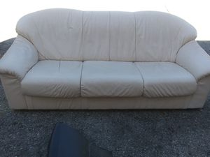 White leather sofa for Sale in Pinellas Park, FL