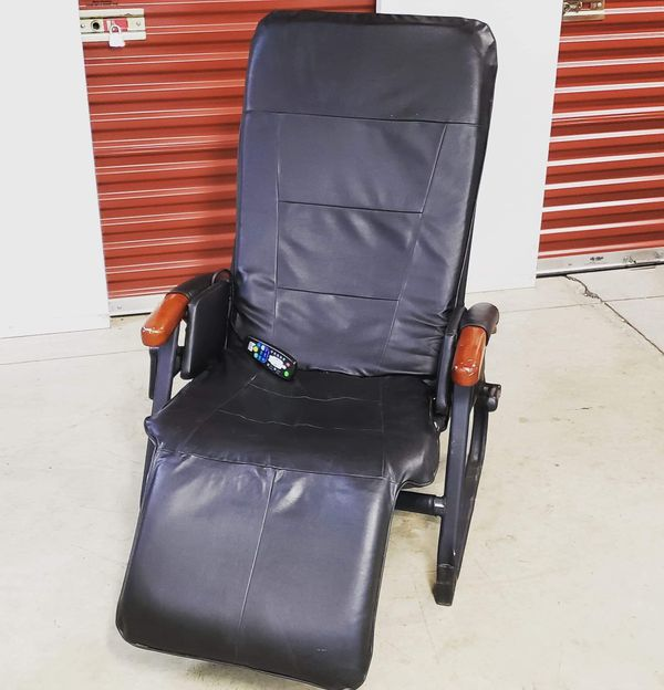Massage Chair: $100 obo Good condition, no rips or scratches. Works, only thing is that handle to lean and pull the leg rest out does not adjust, so