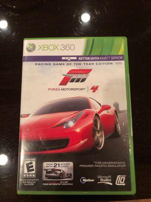 Forza Motorsport 4 Xbox 360 game for Sale in Dallas, TX