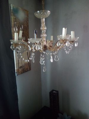 8 light crystal chandelier for Sale in St. Louis, MO