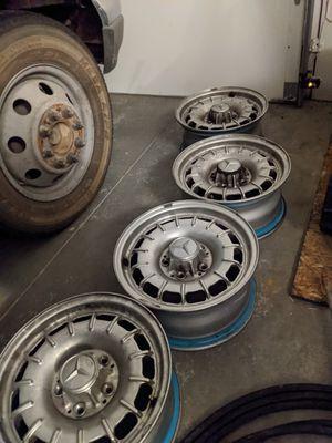 Mid '80s Mercedes 380 SL, 450 SL wheels. for Sale in Salt Lake City, UT