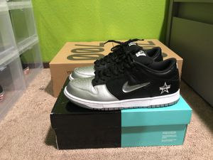 Supreme x Nike SB Dunk Jewel Swoosh Silver Black for Sale in Kent, WA