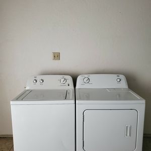 SET WASHER AND DRYER ROPER BY WHIRLPOOL GOOD CONDITION BOTH ELECTRIC KING SIZE CAPACITY PLUS for Sale in Fort Worth, TX
