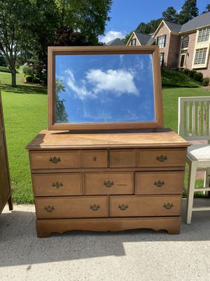 Antique Dresser with Mirror $250 OBO for Sale in Buford, GA