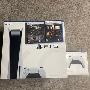 PS5- Disc Version With Games And Extra Controller for Sale in Olathe, KS
