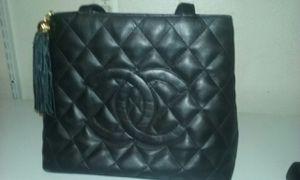 """Vintage black soft leather """"chanel"""" for Sale in Las Vegas, NV"""
