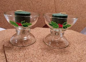 Vintage Avon Hostess Collection Candleholders Holly for Sale in Pinellas Park, FL