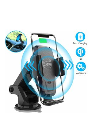 Iotton Wireless Car Charger, Auto-Clamp 10W/7.5W Qi Fast Charging Car Mount, Windshield Dash Air Vent Phone Holder for Sale in Hacienda Heights, CA