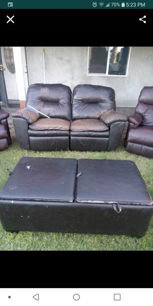 Free. Free. Free. Couch ottoman and box of clothes for Sale in Phoenix, AZ