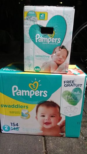 Pampers size2 and wipes for Sale in Fresno, CA