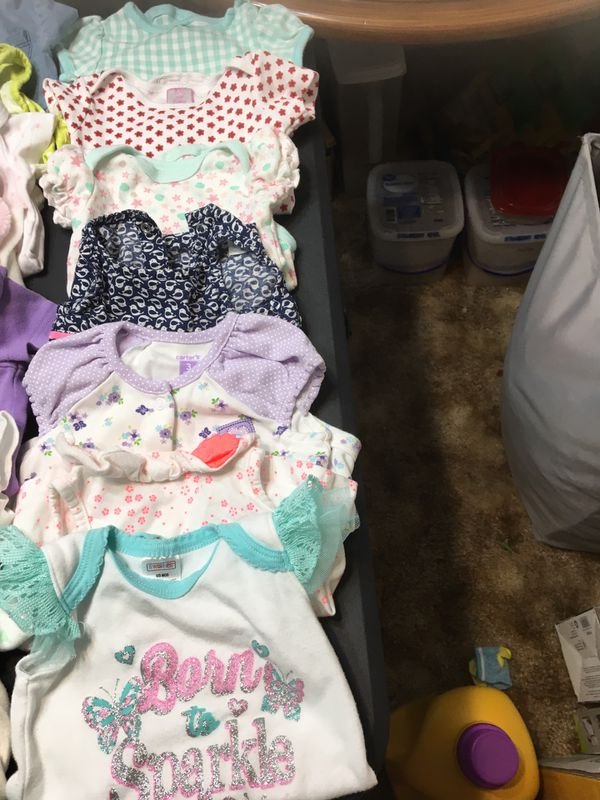 I have tons of baby girl clothes