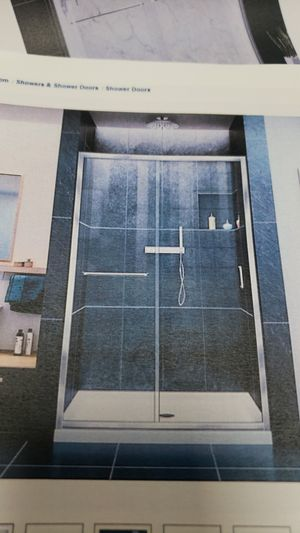 Standing shower door 44 in to 48 in wide by 72 high for Sale in Queens, NY