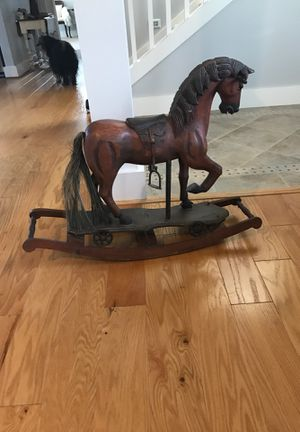 Beautiful hand carved Rockinghorse antique for Sale in Gig Harbor, WA