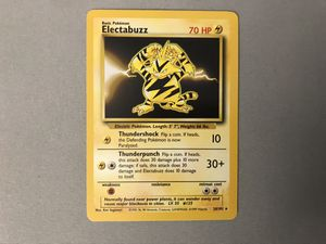 Electabuzz BASE SET Unlimited Pokemon Card 20/102 RARE MINT for Sale in West Palm Beach, FL