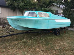 "1959"" Dorcette Cabin cruiser boat & trailer, no motor. for Sale in Visalia, CA"