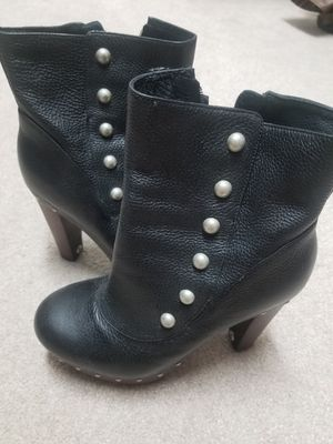 Ugg black leather booties size 7.5 for Sale in Mount Airy, MD