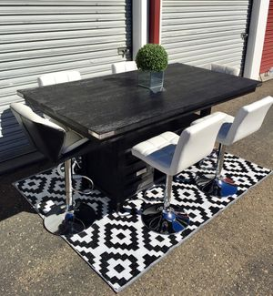 Designer Counter height table extendable with 6 chairs for Sale in San Diego, CA